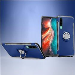 Armor Anti Drop Carbon PC + Silicon Invisible Ring Holder Phone Case for Huawei P30 - Sapphire