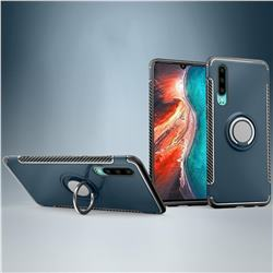 Armor Anti Drop Carbon PC + Silicon Invisible Ring Holder Phone Case for Huawei P30 - Navy