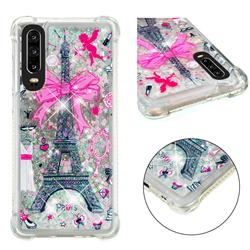 Mirror and Tower Dynamic Liquid Glitter Sand Quicksand Star TPU Case for Huawei P30
