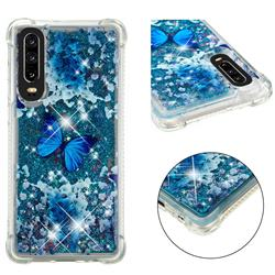 Flower Butterfly Dynamic Liquid Glitter Sand Quicksand Star TPU Case for Huawei P30