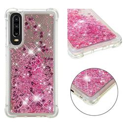 Dynamic Liquid Glitter Sand Quicksand Star TPU Case for Huawei P30 - Diamond Rose