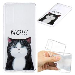 Cat Say No Clear Varnish Soft Phone Back Cover for Huawei P30
