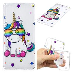 Glasses Unicorn Clear Varnish Soft Phone Back Cover for Huawei P30