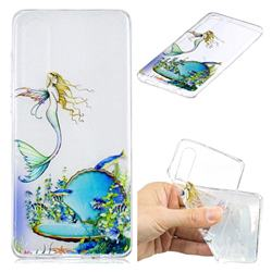Mermaid Clear Varnish Soft Phone Back Cover for Huawei P30