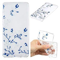 Magnolia Flower Clear Varnish Soft Phone Back Cover for Huawei P30