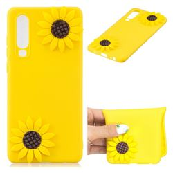 Yellow Sunflower Soft 3D Silicone Case for Huawei P30