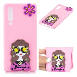 Violet Girl Soft 3D Silicone Case for Huawei P30