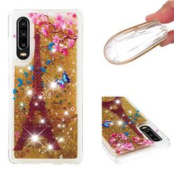 Golden Tower Dynamic Liquid Glitter Quicksand Soft TPU Case for Huawei P30
