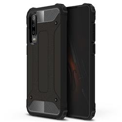 King Kong Armor Premium Shockproof Dual Layer Rugged Hard Cover for Huawei P30 - Black Gold