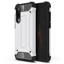 King Kong Armor Premium Shockproof Dual Layer Rugged Hard Cover for Huawei P30 - White