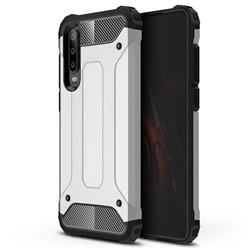 King Kong Armor Premium Shockproof Dual Layer Rugged Hard Cover for Huawei P30 - Technology Silver
