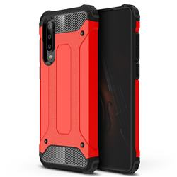 King Kong Armor Premium Shockproof Dual Layer Rugged Hard Cover for Huawei P30 - Big Red