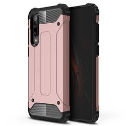 King Kong Armor Premium Shockproof Dual Layer Rugged Hard Cover for Huawei P30 - Rose Gold