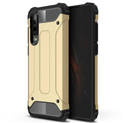 King Kong Armor Premium Shockproof Dual Layer Rugged Hard Cover for Huawei P30 - Champagne Gold