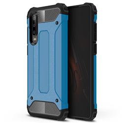 King Kong Armor Premium Shockproof Dual Layer Rugged Hard Cover for Huawei P30 - Sky Blue