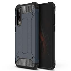 King Kong Armor Premium Shockproof Dual Layer Rugged Hard Cover for Huawei P30 - Navy