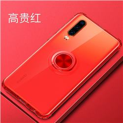 Anti-fall Invisible Press Bounce Ring Holder Phone Cover for Huawei P30 - Noble Red