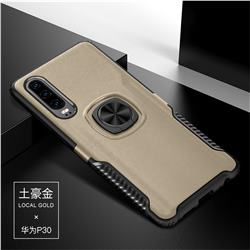 Knight Armor Anti Drop PC + Silicone Invisible Ring Holder Phone Cover for Huawei P30 - Champagne