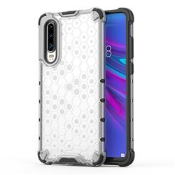 Honeycomb TPU + PC Hybrid Armor Shockproof Case Cover for Huawei P30 - Transparent