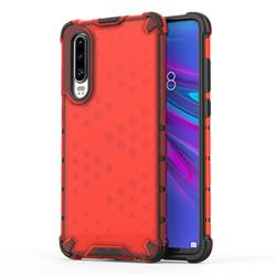Honeycomb TPU + PC Hybrid Armor Shockproof Case Cover for Huawei P30 - Red