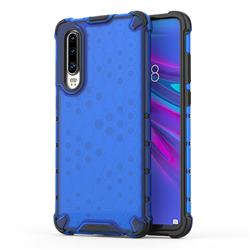 Honeycomb TPU + PC Hybrid Armor Shockproof Case Cover for Huawei P30 - Blue