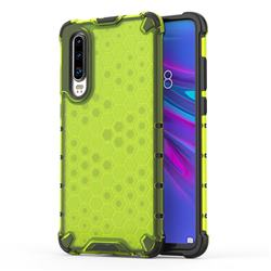 Honeycomb TPU + PC Hybrid Armor Shockproof Case Cover for Huawei P30 - Green