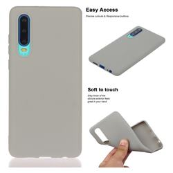 Soft Matte Silicone Phone Cover for Huawei P30 - Gray