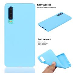 Soft Matte Silicone Phone Cover for Huawei P30 - Sky Blue