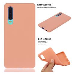 Soft Matte Silicone Phone Cover for Huawei P30 - Coral Orange