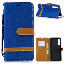 Jeans Cowboy Denim Leather Wallet Case for Huawei P30 - Sapphire