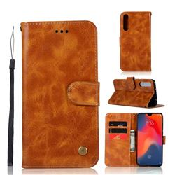 Luxury Retro Leather Wallet Case for Huawei P30 - Golden
