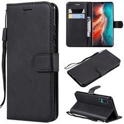 Retro Greek Classic Smooth PU Leather Wallet Phone Case for Huawei P30 - Black