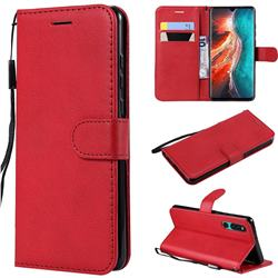 Retro Greek Classic Smooth PU Leather Wallet Phone Case for Huawei P30 - Red