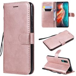 Retro Greek Classic Smooth PU Leather Wallet Phone Case for Huawei P30 - Rose Gold