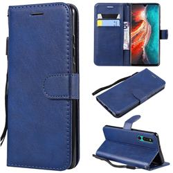Retro Greek Classic Smooth PU Leather Wallet Phone Case for Huawei P30 - Blue