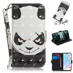 Angry Bear 3D Painted Leather Wallet Phone Case for Huawei P30