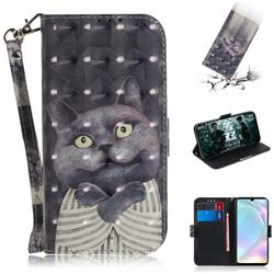 Cat Embrace 3D Painted Leather Wallet Phone Case for Huawei P30