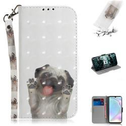 Pug Dog 3D Painted Leather Wallet Phone Case for Huawei P30