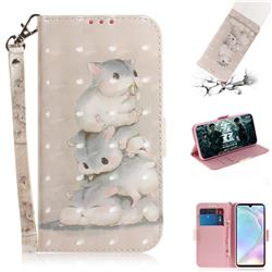 Three Squirrels 3D Painted Leather Wallet Phone Case for Huawei P30
