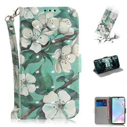 Watercolor Flower 3D Painted Leather Wallet Phone Case for Huawei P30