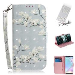 Magnolia Flower 3D Painted Leather Wallet Phone Case for Huawei P30
