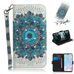 Peacock Mandala 3D Painted Leather Wallet Phone Case for Huawei P30
