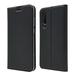 Ultra Slim Card Magnetic Automatic Suction Leather Wallet Case for Huawei P30 - Star Grey
