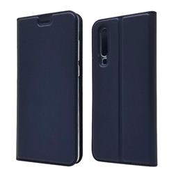 Ultra Slim Card Magnetic Automatic Suction Leather Wallet Case for Huawei P30 - Royal Blue