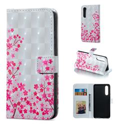 Cherry Blossom 3D Painted Leather Phone Wallet Case for Huawei P30