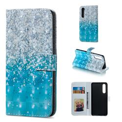 Sea Sand 3D Painted Leather Phone Wallet Case for Huawei P30