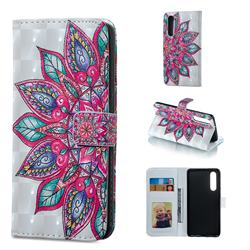 Mandara Flower 3D Painted Leather Phone Wallet Case for Huawei P30