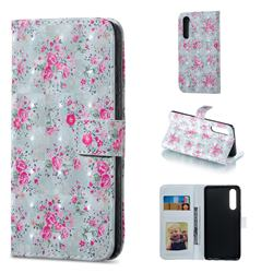 Roses Flower 3D Painted Leather Phone Wallet Case for Huawei P30