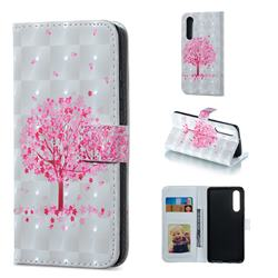 Sakura Flower Tree 3D Painted Leather Phone Wallet Case for Huawei P30