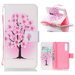 Peach Flower Leather Wallet Phone Case for Huawei P30